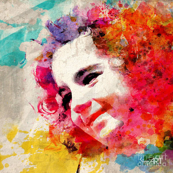 Watercolor Poster featuring the digital art JOY by Donika Nikova
