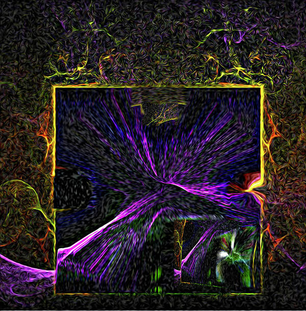 Fractal-flame Poster featuring the digital art Karmic Doorways Of Destiny by Rebecca Phillips