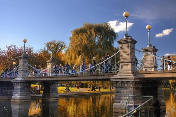 Willow Poster featuring the photograph Lagoon Bridge In Autumn by Joann Vitali