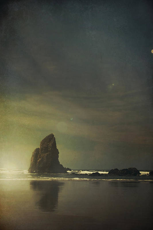 Cannon Beach Poster featuring the photograph Let Love Shine Through by Laurie Search