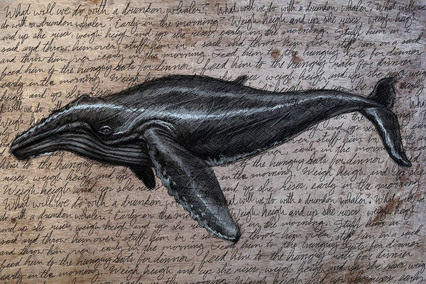 Whale Poster featuring the digital art Leviathan by Mark Zelmer