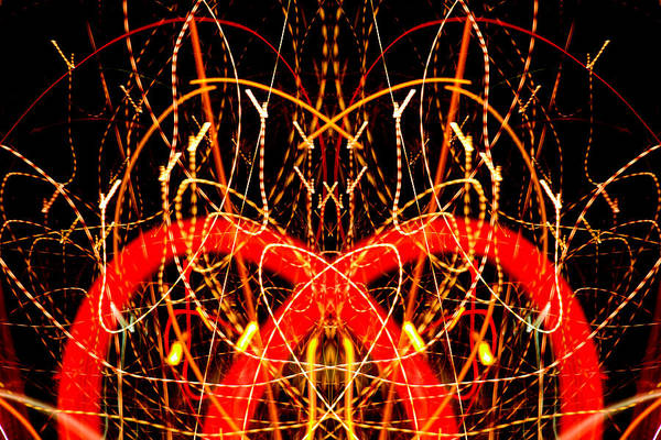 Abstract Poster featuring the photograph Light Fantastic 17 by Natalie Kinnear