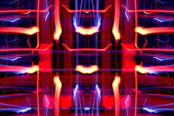 Abstract Poster featuring the photograph Light Fantastic 21 by Natalie Kinnear