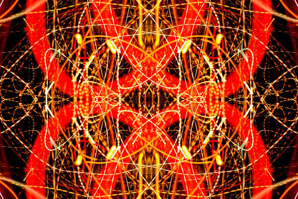 Abstract Poster featuring the photograph Light Fantastic 26 by Natalie Kinnear