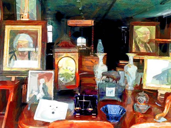 Antiques Poster featuring the digital art Living In Past Glory by Steve Taylor