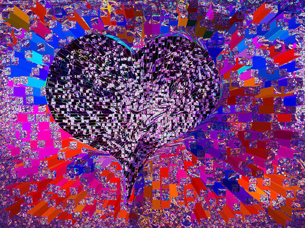 💗love's Abyss And All About This Poster featuring the mixed media Love's Abyss And All About This by Kenneth James
