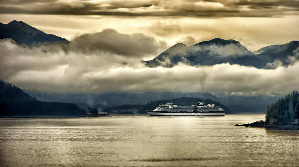 Glacier Poster featuring the photograph Low Clouds - Half Speed by Jon Berghoff