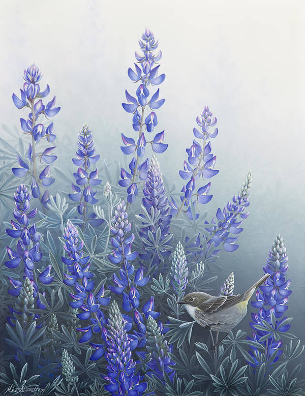 Bird Poster featuring the painting Lupine by Mike Stinnett