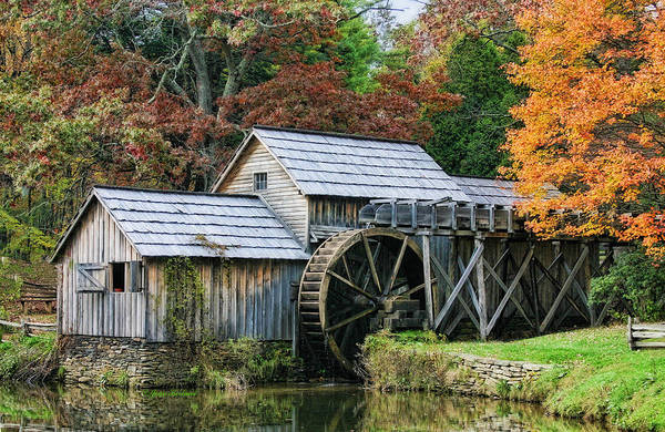 Mill Poster featuring the photograph Mabry Mill II by Joan Bertucci