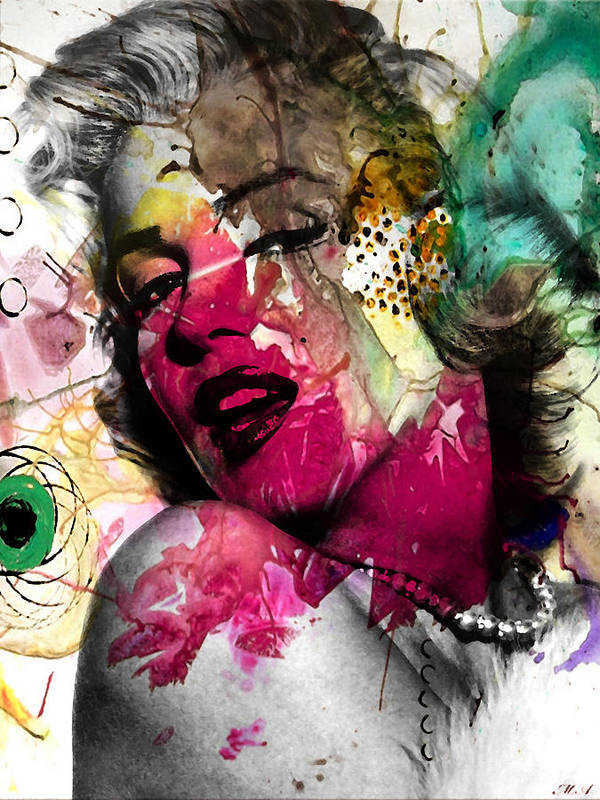 Pop Art Poster featuring the photograph Marilyn Monroe by Mark Ashkenazi