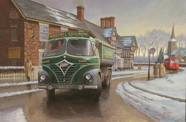 painting For Sale Poster featuring the painting Martin C. Cullimore Tipper. by Mike Jeffries