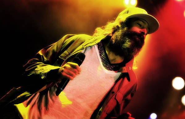 Jennifer Rondinelli Reillly Poster featuring the photograph Matisyahu Live In Concert 2 by The Vault - Jennifer Rondinelli Reilly