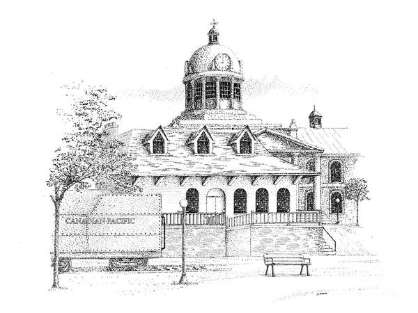 Limestone Buildings Poster featuring the drawing Memories Of Kingston by Steve Knapp