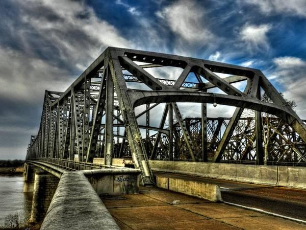 Memphis Poster featuring the photograph Memphis - Memphis And Arkansas Bridge 002 by Lance Vaughn