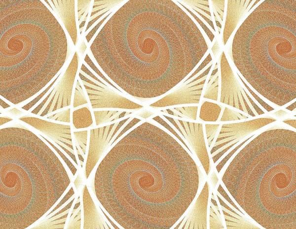 Netting Poster featuring the digital art Mesh by Anastasiya Malakhova