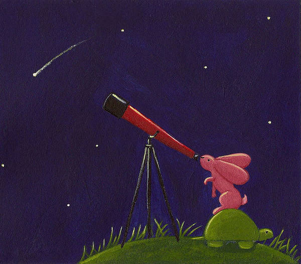 Meteor Poster featuring the painting Meteor Shower by Christy Beckwith