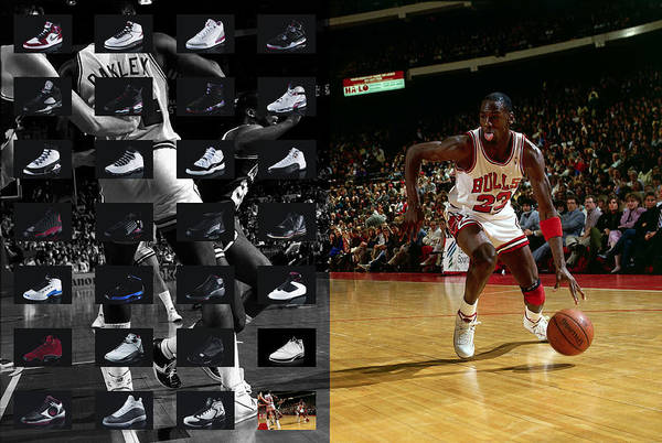 Michael Jordan Poster featuring the photograph Michael Jordan Shoes by Joe Hamilton