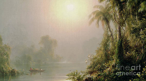 Morning In The Tropics Poster featuring the painting Morning In The Tropics by Frederic Edwin Church
