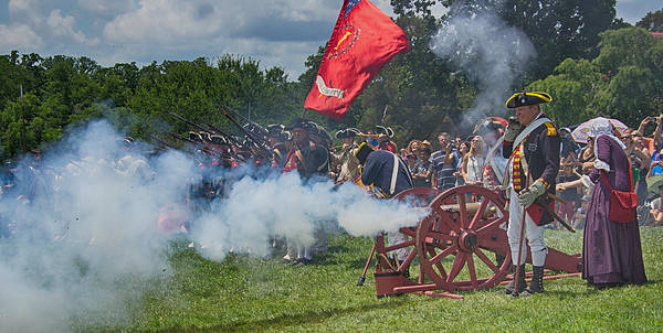 Vernon Poster featuring the photograph Mt Vernon Cannon Fire 4th Of July by Jack Nevitt