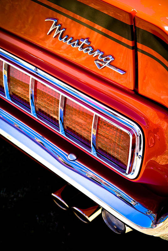 Ford Mustang Poster featuring the photograph Mustang Mach 1 by Phil 'motography' Clark