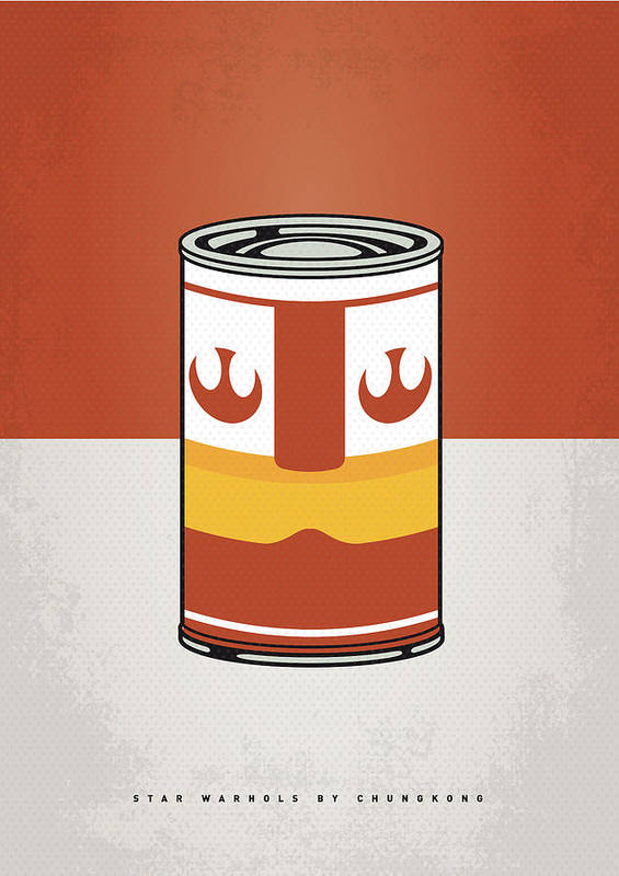 Star Poster featuring the digital art My Star Warhols Luke Skywalker Minimal Can Poster by Chungkong Art