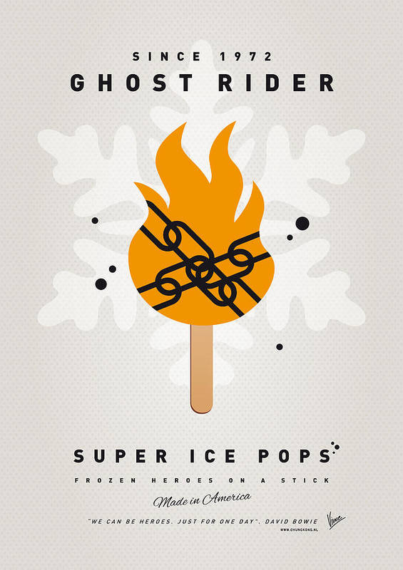 Superheroes Poster featuring the digital art My Superhero Ice Pop - Ghost Rider by Chungkong Art