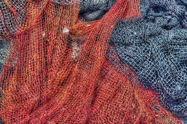 Abstract Poster featuring the photograph Nautical Nets by Heidi Smith