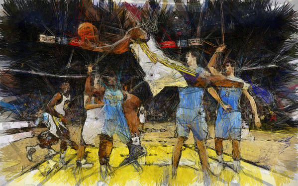 Basketball Poster featuring the painting NBA by Georgi Dimitrov