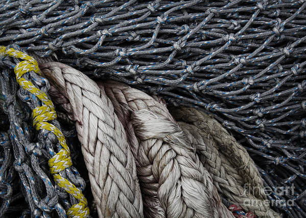 Fishing Poster featuring the photograph Nets And Knots Number Two by Elena Nosyreva