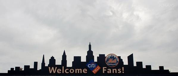 Shea Stadium Poster featuring the photograph New York Mets Skyline by Rob Hans