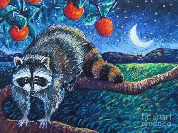 Raccoon Poster featuring the pastel Night Visitor by Harriet Peck Taylor