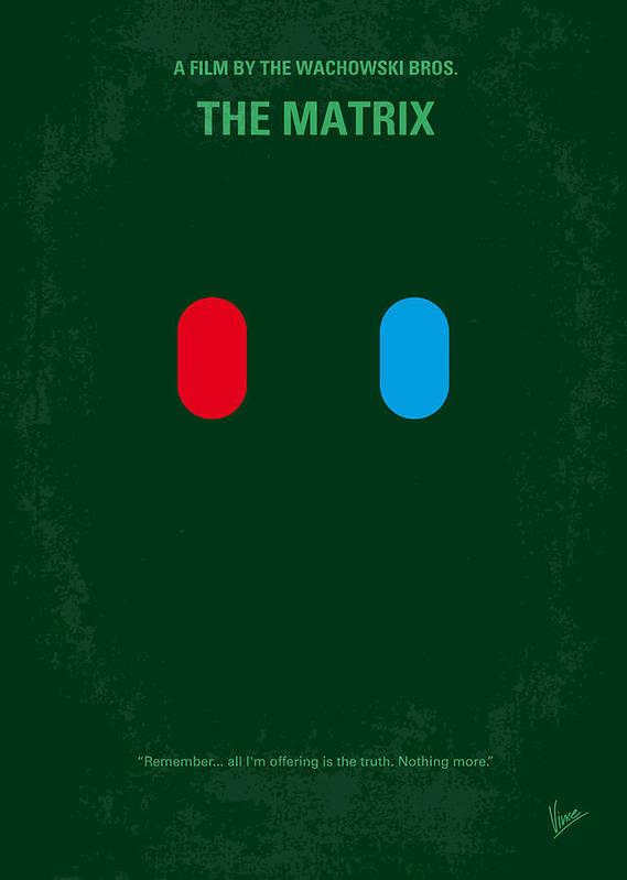 Matrix Poster featuring the digital art No117 My Matrix Minimal Movie Poster by Chungkong Art