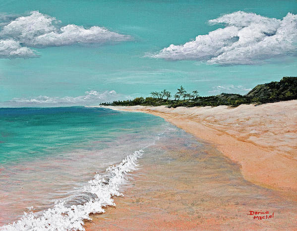 Hawaii Poster featuring the painting Northshore Oahu by Darice Machel McGuire