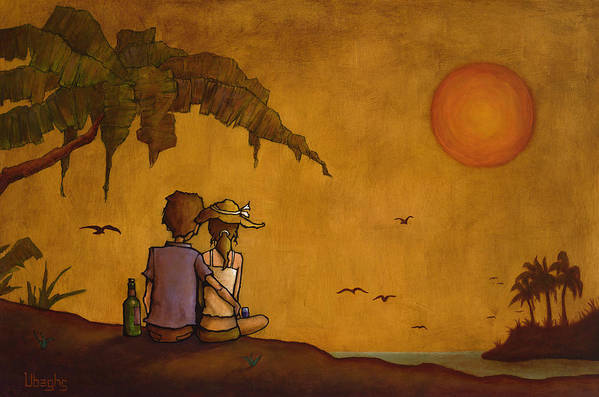 Nature Poster featuring the painting Obvious Romance by Bryan Ubaghs