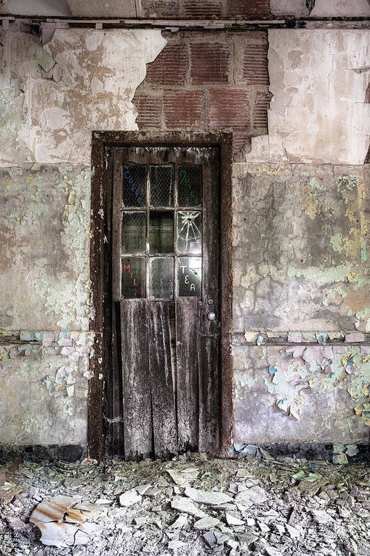 Old Door Poster featuring the photograph Old Door - Abandoned Building - Tea by Gary Heller