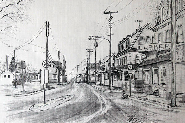 Manahawkin Poster featuring the mixed media Old Manahawkin by Martin Way