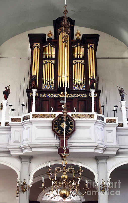 Old North Church Organ Poster featuring the photograph Old North Church Organ by John Rizzuto