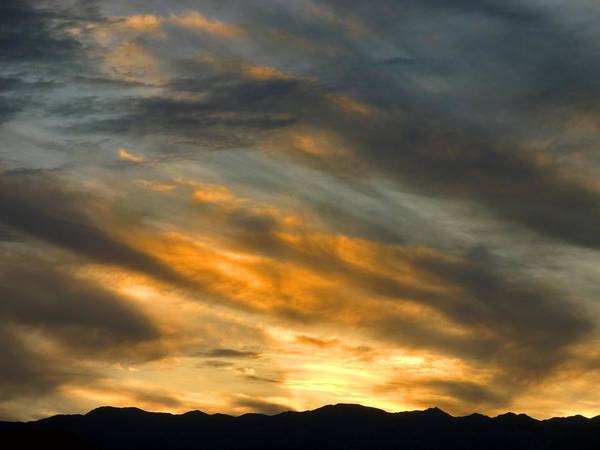 Desert Poster featuring the photograph Panamint Sunset by Joe Schofield