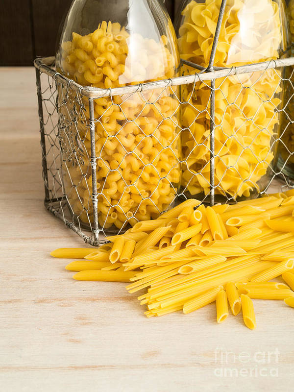 Pasta Poster featuring the photograph Pasta Shapes Still Life by Edward Fielding