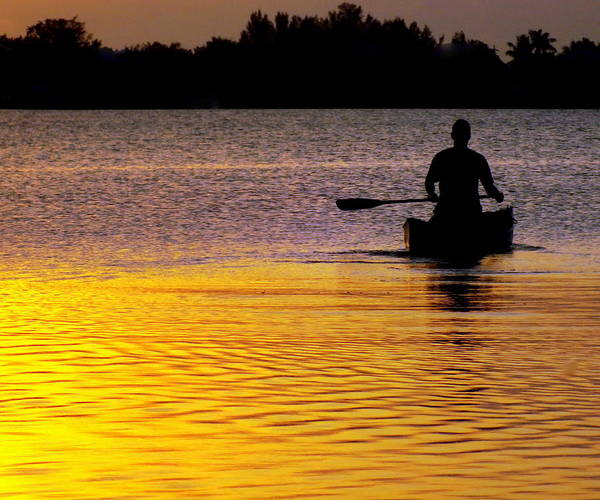 Canoes Poster featuring the photograph Peace Of Mind by Karen Wiles