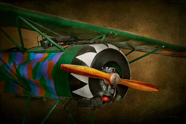 Airplane Poster featuring the photograph Pilot - Plane - German Ww1 Fighter - Fokker D Viii by Mike Savad