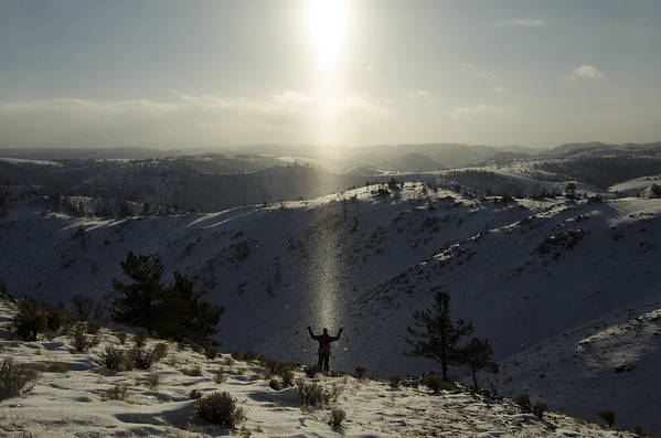 Landscape Poster featuring the photograph Praise In The Snowies by Aaron S Bedell