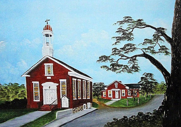 Country Church Poster featuring the painting Precious Memories by Darlene Prowell