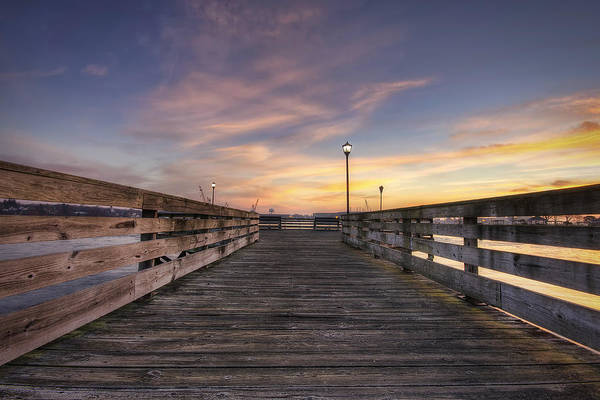 Prescott Park Poster featuring the photograph Prescott Park Boardwalk by Eric Gendron