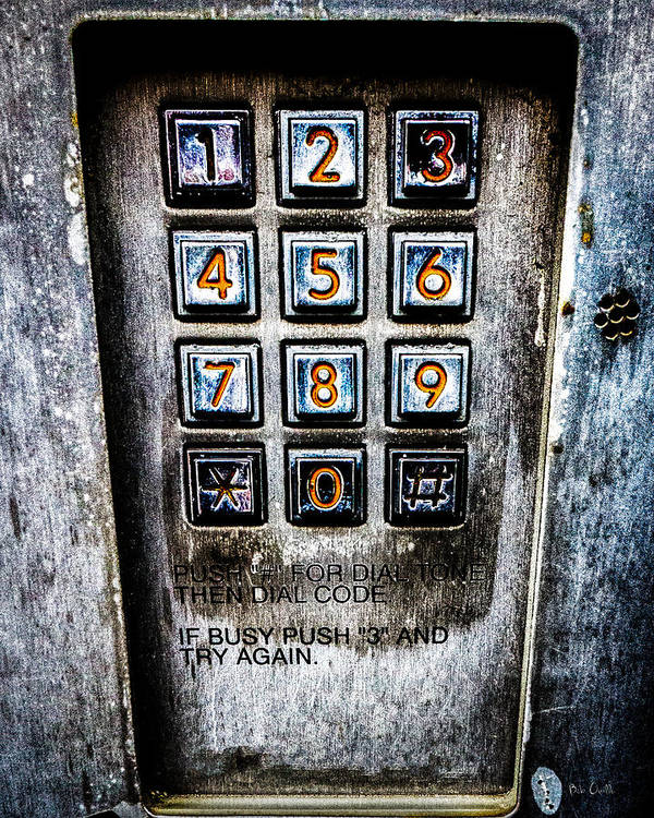 Keypad Poster featuring the photograph Press Three And Try Again by Bob Orsillo