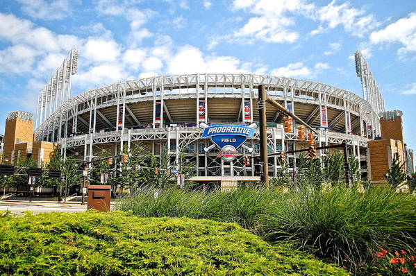 Jacobs Poster featuring the photograph Progressive Field by Frozen in Time Fine Art Photography