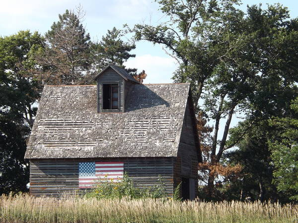 Barn Poster featuring the photograph Proudly She Stands by Caryl J Bohn