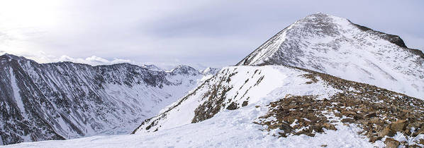 Quandary Poster featuring the photograph Quandary Peak Panorama by Aaron Spong