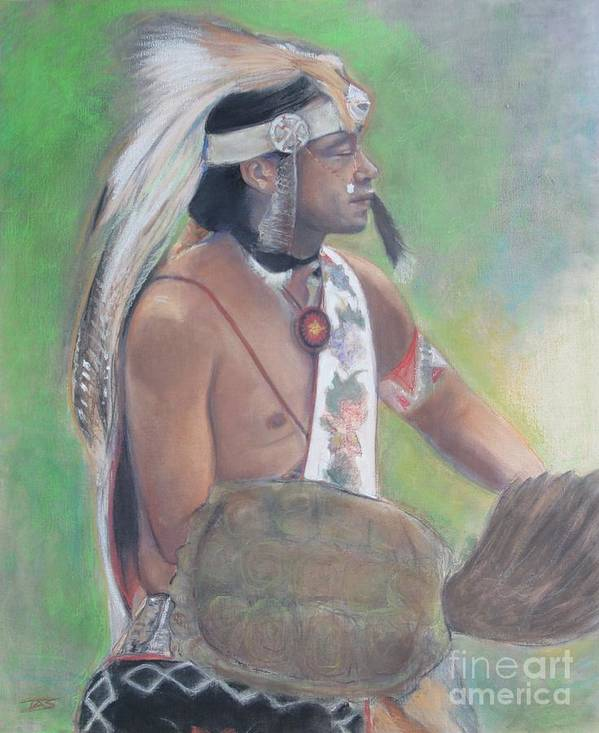Native American Poster featuring the painting Wampanoag Dancer by Terri Ana Stokes