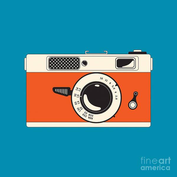 Analog Poster featuring the digital art Rangefinder Film Camera by Igor Kislev